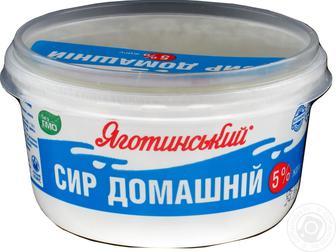 Сир к/м Домашній 5% Яготинський 370 г