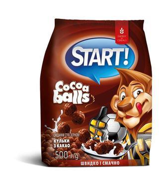 СУХІ СНІДАНКИ кульки з какао, 500 г START!