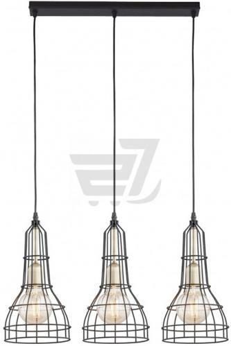 Скидка 21% ▷ Люстра підвісна TK Lighting Long 3PL 3x60 Вт E27 бронза/чорний