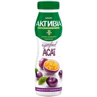 Біфідойогурт Danon Активіа маракуя-асаї 1,5% 290г