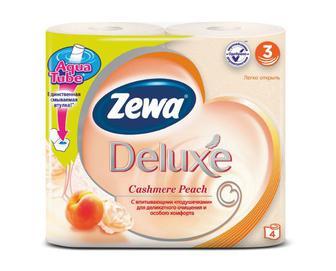 Папір туалетний Zewa Deluxe 3-шаровий персик 4 рулони/уп.