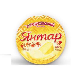 Сир плавлений пастоподібний Янтар 60% Богодухів 90 г