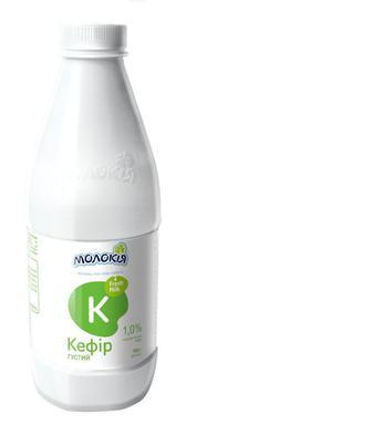 Кефір Молокія 1,0% пляшка, 900 г