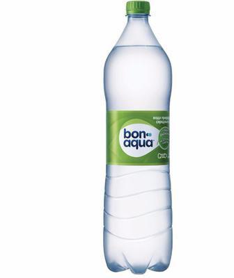 Вода газована, негазована, слабогазована,  Бонаква, 1 л
