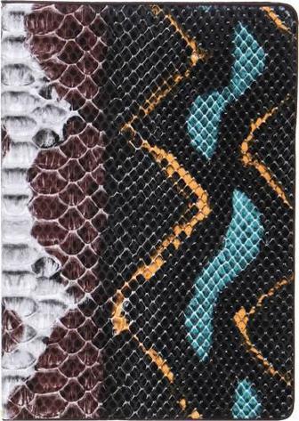 Блокнот Змія A5 80 аркушів коричнево-чорний