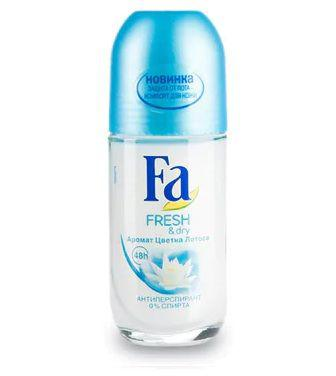 Кульковий дезодорант Fa Fresh & Dry Аромат квітки лотоса 50мл
