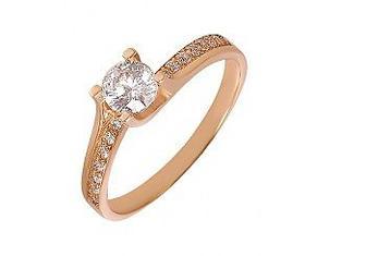 Золотое кольцо c фианитами 01-17094544