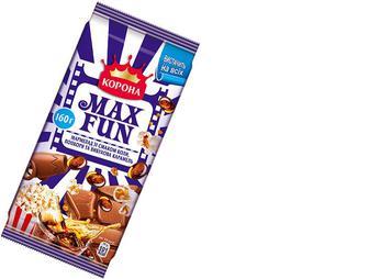 Шоколад молочний мармелад попкорн, мармелад, 160г, Корона