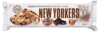 Печенье NEW YORKERS шоколадное с ореховой начинкой 175 г