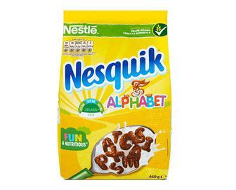 Сніданок сухий готовий Nestle Nesquik Alphabet з вітамінами та мінералами, 460г