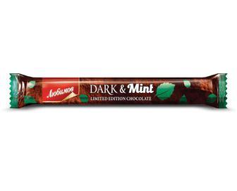 Шоколад чорний, Любимов, з начинкою, 38 г