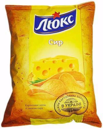 ЧІПСИ Сир, 133 г ЛЮКС
