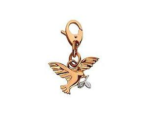 Золотой кулон с фианитом 15-000091509