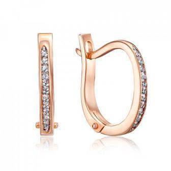 Золотые серьги с бриллиантами. Артикул 53725/02/1/8007