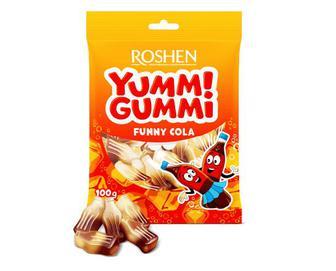 Цукерки Roshen Yummi Gummi Funny Cola желейні, 100г