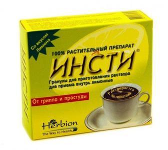 ИНСТИ со вкусом лимона гранулы пакет-саше №5
