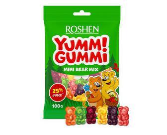 Цукерки Roshen Yummi Gummi Mini Bear Mix желейні, 100г