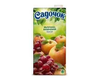 Нектар «Садочок» яблучно-вишневий, 0,95 л