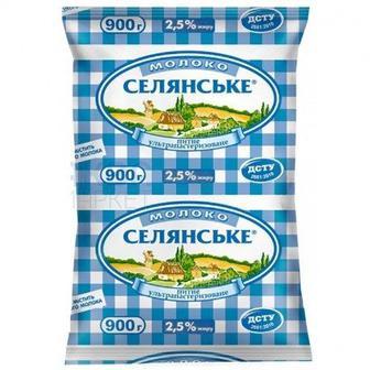 Молоко 2,6% Селяньске 900 г