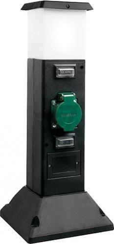 Світильник-розетка вуличний Wolta GSL-402 15 Вт IP44 чорний