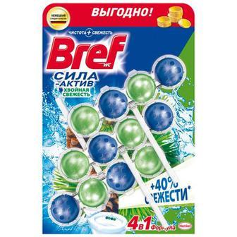 Засіб Bref чистячий для унітаза Хвойна свіжість 3шт