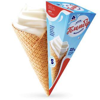 Морозиво Крем-пломбір 70г Рудь
