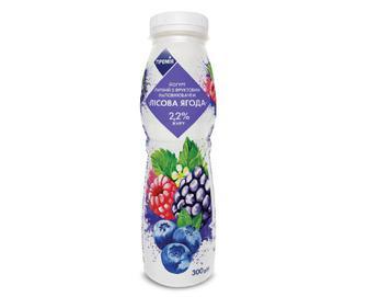 Йогурт питний 2,2% жиру «Лісова ягода» «Премія»® 300 г