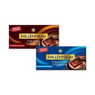 Шоколад молоний, чорний, Міленіум, 100г