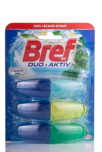 Скидка 22% ▷ Чистящий блок для туалета Bref дуо актив свежий микс запаска, 3
