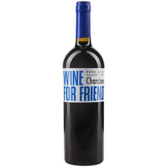 Вино For Friends Chardonnay напівсолодке біле 0,75л