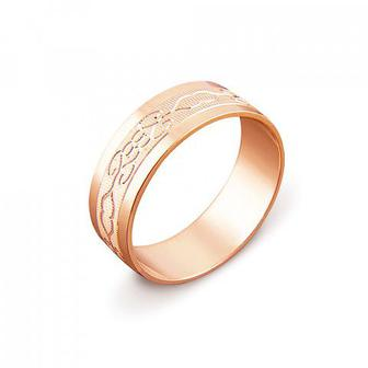 Обручальное кольцо с алмазной гранью Артикул 1070/2