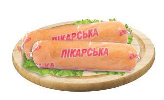 Ковбаса Лікарська в білкозині Глобино 500 г