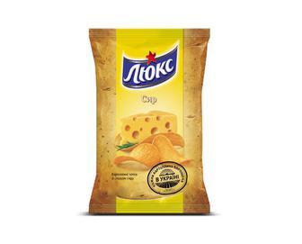 Чіпси «Люкс» зі смаком сиру, 133г