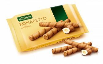 Вафельні трубочки Konafetto з горіховою начинкою 156г