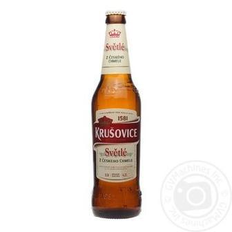 Пиво Krusovice светлое фильтрованное пастеризованное 4,2% 0,5л