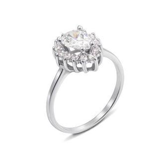 Золотое кольцо с фианитами Swarovski Zirconia. Артикул К4033SW