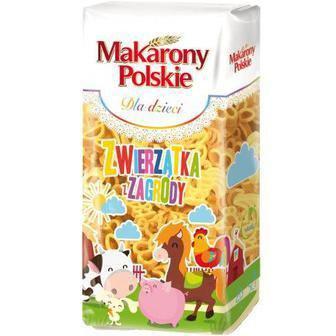 МАКАРОНИ Тваринки з ферми, 400 г MAKARONY POLSKIE