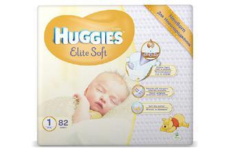 Підгузки Huggies Elite Soft 1 (2–5 кг) 82 шт./уп