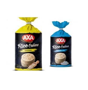 Хлібці рисові або пшенинчні цільнозернові AXA 100г