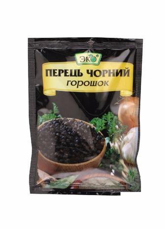 Перец Эко черный горошек/молотый 20г