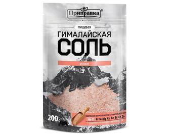 Сіль «Приправка» харчова «Гімалайська» рожева, 200г