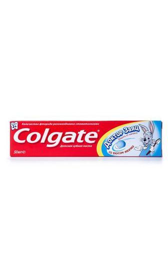 Зубная паста Colgate детская Доктор Заяц со вкусом жевательной резинки 50мл