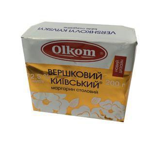 Скидка 15% ▷ Маргарин Олком Київський вершковий 72,5% 200г