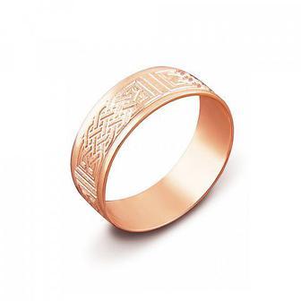 Обручальное кольцо с алмазной гранью. Артикул 1070/17