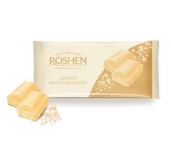 "Скидка 18% ▷ Шоколад пористий білий, екстрачор, тем.мол,  ""Roshen"", ф/п 85 г"