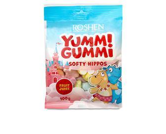 Цукерки Roshen Yummi Gummi Softy Hippos желейні, 100г