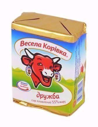 СИР плавлений Зелень / часник, Шинка, Дружба, 90 г Весела Корівка