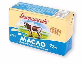 Масло Селянське 73%, Яготинське, 200 г