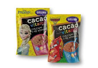 Напій Frozen/ Cars швидкорозчинний з какао, збагачений вітамінами та кальцієм Gellwe 150 мл.
