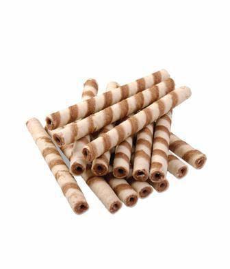 Трубочки вафельні з молоком або з какао Бісквіт Шоколад 100 г